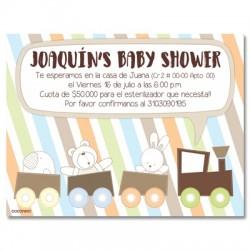b0034 S Azul - Invitaciones - Baby Shower