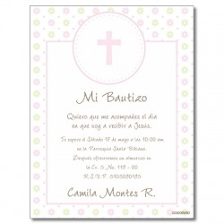 b0022 B - Invitaciones Bautizo