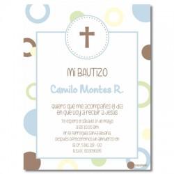 b0023 B - Invitaciones Bautizo