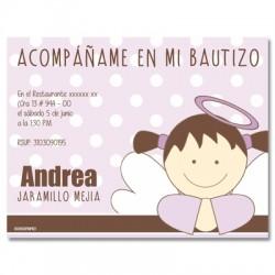 b0028 Violeta - Invitaciones - Bautizo
