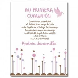 b0007 C violeta - Invitaciones Primera Comunion
