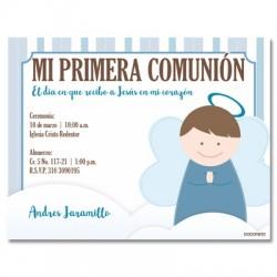 b0029 C azul - Invitaciones Primera Comunion