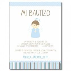 b0057 azul - Invitaciones - Bautizo