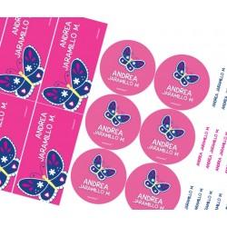 KE0156 - Kit Escolar - Mariposas