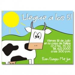 c0006 - Invitaciones de cumpleaños - Vaca.