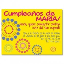 c0015 - Invitaciones de cumpleaños - Flores.