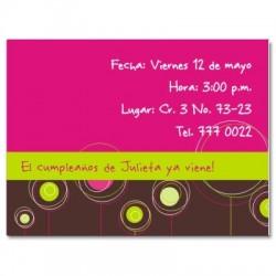 c0019 - Invitaciones de cumpleaños - Flores.