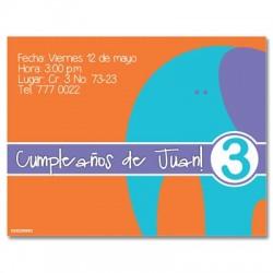 c0028 - Invitaciones de cumpleaños - Elefante.