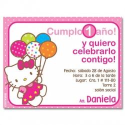 c0043 - Invitaciones de cumpleaños - Hellokitty.