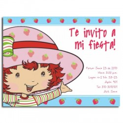 c0067 - Birthday invitations - Strawberry Shortcake