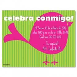 c0081 - Invitaciones de cumpleaños - Pájaro.