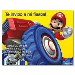 c0083 - Invitaciones de cumpleaños - Mario bros.