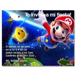 c0084 - Invitaciones de cumpleaños - Mario bros.