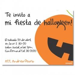 c0087 - Invitaciones de cumpleaños - Halloween.