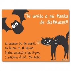 c0089 - Invitaciones de cumpleaños - Halloween.