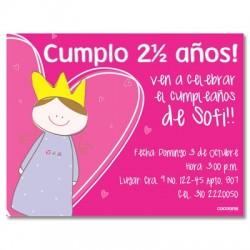 c0093 - Invitaciones de cumpleaños - Princesa.
