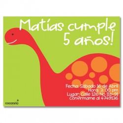 c0115 - Invitaciones de cumpleaños - Dinosaurio