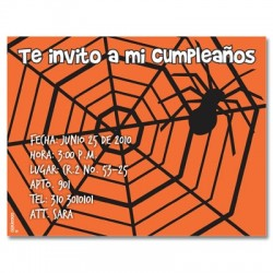 c0125 - Invitaciones de cumpleaños - Halloween