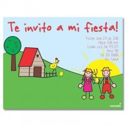 c0127 - Invitaciones de cumpleaños - Granja