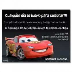 c0132 - Birthday invitations - Cars
