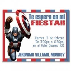 c0135 - Invitaciones de cumpleaños - Super heroes