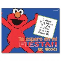 c0137 - Invitaciones de cumpleaños -  Elmo