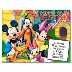 c0141 - Invitaciones de cumpleaños - Mickey mouse