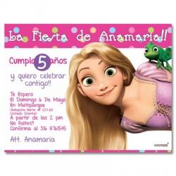 c0146 - Invitaciones de cumpleaños - Princesas