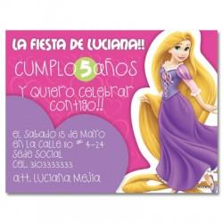 c0147 - Invitaciones de cumpleaños - Princesas