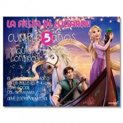 c0148 - Invitaciones de cumpleaños - Princesas