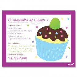 c0149 - Birthday invitations - Cup cake
