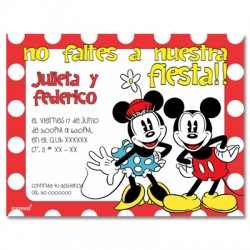 c0152 - Invitaciones de cumpleaños - Mickey mouse