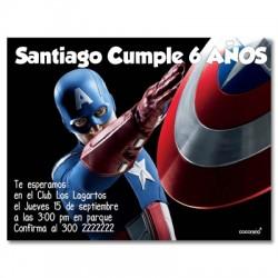 c0160 - Invitaciones de cumpleaños - Super heroes