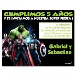c0164 - Invitaciones de cumpleaños - Super heroes