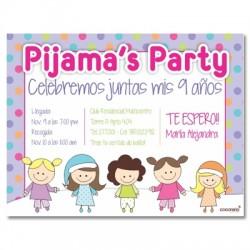 c0169 - Invitaciones de cumpleaños - Pijama