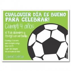 c0171 - Invitaciones de cumpleaños - Fútbol 2