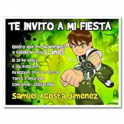 c0183 - Birthday invitations - Ben 10