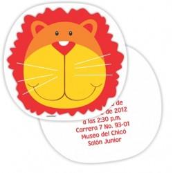 c0192 - Invitaciones de cumpleaños - león