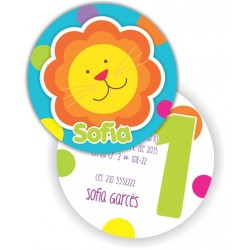 c0195 - Birthday invitations - lion 2