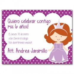 c0212 - Invitaciones de cumpleaños - Princesa