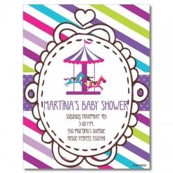 c0213 - Invitaciones de cumpleaños - baby shower