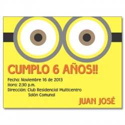 c0218 - Birthday invitations - minions