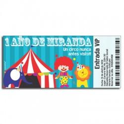 c0225 - Invitaciones de cumpleaños - circo