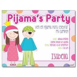 c0240 - Invitaciones de cumpleaños - Pijama 2