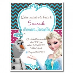 c0241 - Birthday invitations - frozen 4