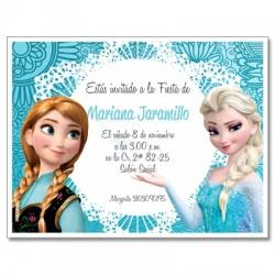 c0244 - Invitaciones de cumpleaños - Frozen