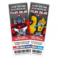c0246 - Invitaciones de cumpleaños - Transformers