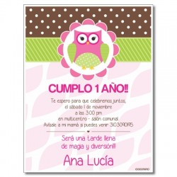 c0248 - Birthday invitations - Owl