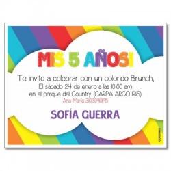 c0253 - Invitaciones de cumpleaños - Arcoiris