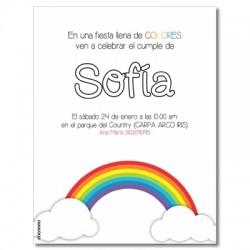 c0254 - Invitaciones de cumpleaños - Arcoiris